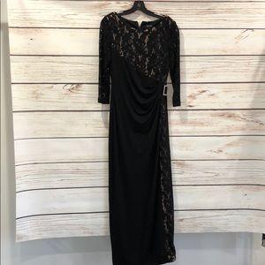 Tahari Arthur S Levine Sz. 8 Black cocktail dress